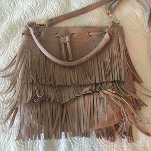 NWOT Blush Tassel Satchel or Crossbody Bag